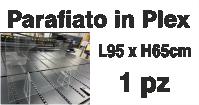 Parafiato f.to 95x65 in Plexiglass trasparente da 5mm con piedini da 8mm