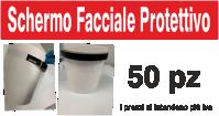 Shermo facciale protettivo realizzato in Pvc 200micron certificato, corrisponden