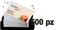 Biglietti da visita 85x55 mm stampa quadricomia solo fronte su Acquerello avorio 300gr.