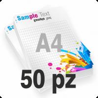 Blocchi formato A4 da 50 fogli bianchi 80 grammi stampa a colori con sottoblocco