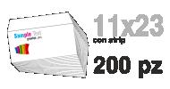 Busta 11x23 con strip stampa 4/0