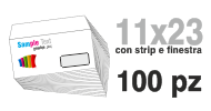 Busta 11x23 stampa quadricromia