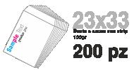 Busta 23x33 con strip stampa 4/0