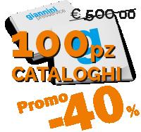 Cataloghi f.to A4 - 80 pagine su patinata gr 130 + copertina 300gr stampa quadricromia plastificata lucida allestimento brossura Pur