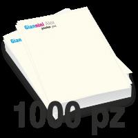 Carta intestata formato A4 stampata a colori su carta avorio 100gr per stampanti laser