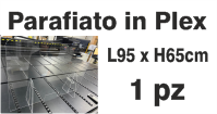 Parafiato f.to 95x65 in Plexiglass trasparente da 5mm