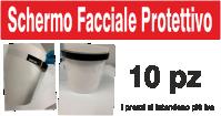 Schermo facciale protettivo realizzato in Pvc 200micron certificato, corrispondente al regolamento e direttive per il contatto con alimenti. E' composto da una morbida schiuma con punti di attacco e dotata di fascia antisudore frontale.