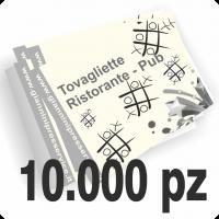 Tovagliette sottopiatto f.to 31x44cm stampate un colore scala di grigi su carta avorio 85gr