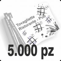 Tovagliette sottopiatto f.to 31x44cm stampate un colore scala di grigi su carta bianca 80gr